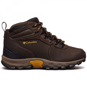 Columbia Youth Newton Ridge Boot - 4 - Cordovan / Golden Yellow