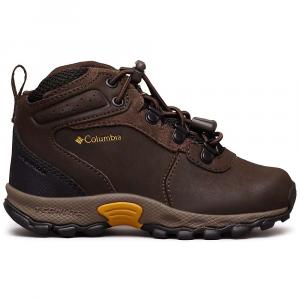 Columbia Kids' Newton Ridge Boot - 8 - Cordovan / Golden Yellow