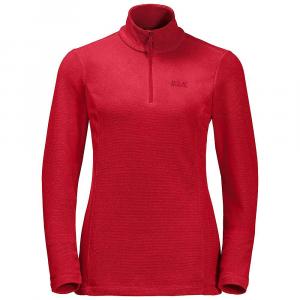 Jack Wolfskin Women's Arco Half Zip - Medium - True Red Stripes