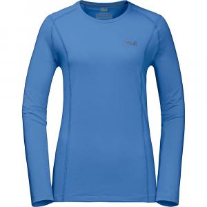Jack Wolfskin Women's Hollow Range LS Shirt - Medium - Zircon Blue