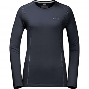 Jack Wolfskin Women's Hollow Range LS Shirt - Small - Night Blue