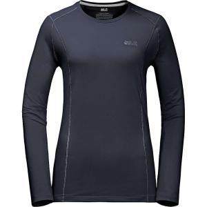 Jack Wolfskin Women's Hollow Range LS Shirt - Large - Night Blue