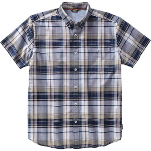Royal Robbins Men's Go Everywhere Oxford Plaid SS Shirt - Small - Spanish Moss