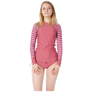 Level Six Women's Venus LS Top - Large - Juneberry / Block Stripes Light Pink