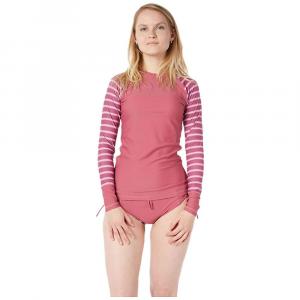 Level Six Women's Venus LS Top - XL - Juneberry / Block Stripes Light Pink