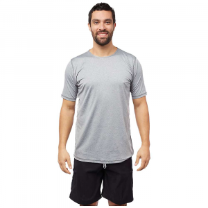 Level Six Men's Dune SS Top - Medium - Light Grey Melange