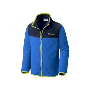 Columbia Youth Mountain Crest Fleece Full Zip Top - Small - Super Blue Heather / Coll Navy