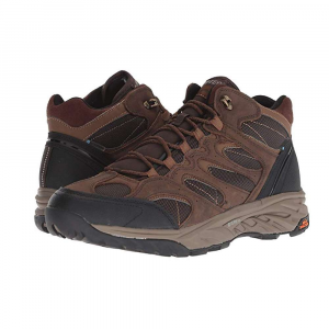 Hi-Tec Men's Wild-Fire Blaze Mid I WP Shoe - 10.5 - Chocolate / Tan