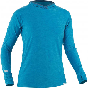 NRS Women's H2Core Silkweight Hoodie - Large - Fjord