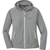 Outdoor Research Women's Ferrosi Hooded Jacket - Large - Light Pewter