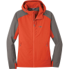 Outdoor Research Women's Ferrosi Hooded Jacket - Large - Paprika/Pewter