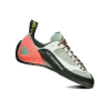 La Sportiva Women's Finale Climbing Shoe - 34.5 - Grey / Coral