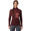 Mountain Hardwear Women's Daisy Chain 1/2 Zip Pullover - Small - Washed Rock