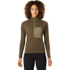 Mountain Hardwear Women's Daisy Chain 1/2 Zip Pullover - Large - Light Army