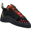 La Sportiva Men's Tarantulace Climbing Shoe - 42 - Black / Poppy