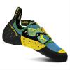 La Sportiva Nitrogym Climbing Shoe - 34 - Blue / Green