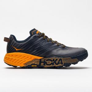 Hoka One One Speedgoat 4 Men's Trail Running Shoes Black Iris/Bright Marigold