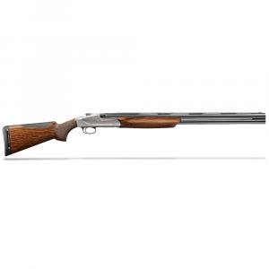 "Benelli 828U 12ga 3"" 26"" Compact AA-Grade Satin Walnut Engraved Nickel Receiver O/U Break Action Shotgun 10709 thumbnail"