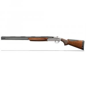 "Benelli 828U 12ga 3"" 26"" LH AA-Grade Satin Walnut Engraved Nickel Receiver O/U Break Action Shotgun 10707 thumbnail"