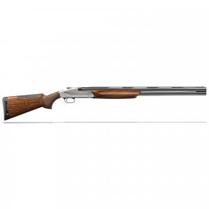 "Benelli 828U 12ga 3"" 30"" AA-Grade Satin Walnut Engraved Nickel Receiver O/U Break Action Shotgun 10706 thumbnail"