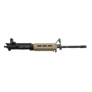 "PSA 16"" Nitride 1:7 M4 Carbine 5.56 NATO MOE AR-15 Upper Assembly, FDE - with BCG/CH & Rear Mbus"