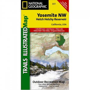 Trails Illustrated Map: Yosemite NW - Hetch Hetchy Reservoir - 2009 Edition
