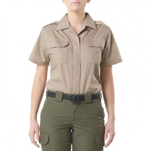 5.11 Tactical Women's CDCR Short Sleeve Duty Shirt 61022US | Coyote Silver | X-Large | Cotton | LAPoliceGear.com thumbnail