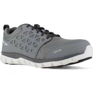Reebok Work Men's Sublite Cushion Work Alloy Toe Work Shoes, Grey