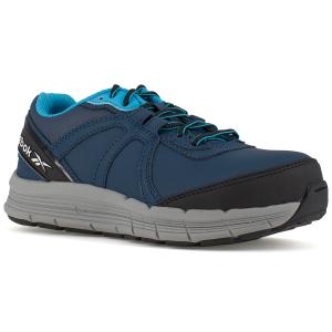 Reebok Work Women's Guide Work Steel Toe Work Shoes, Navy/ Light Blue, Wide