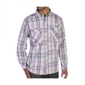 Exofficio Men's Air Strip Macro Plaid Shirt, L/s  - Size S