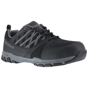 Reebok Work Women's Sublite Work Soft Toe Athletic Oxford Sneakers, Black/grey