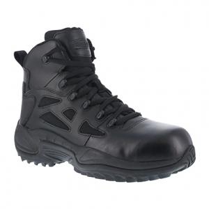 Reebok Work Women's Rapid Response Rb Composite Toe Stealth 6 in. W/ Side Zip Boot, Black