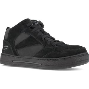 Reebok Work Women's Dayod Composite Toe Lightweight Skateboard Hi Top Sneaker, Black