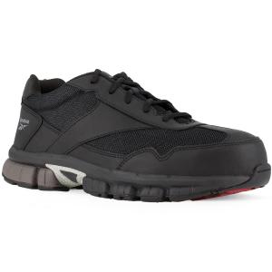Reebok Work Men's Ketia Composite Toe Cross Trainer Shoes, Black/ Silver, Medium Width