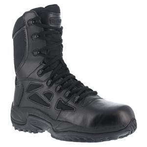 Reebok Work Women's Rapid Response Rb Composite Toe Stealth 8 in. Boot, Black