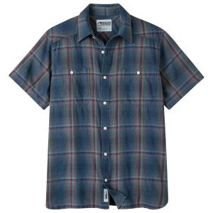Mountain Khakis Men's Ace Indigo Short-Sleeve Shirt - Size S