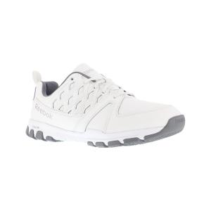 Reebok Work Men's Sublite Work Soft Toe Sneakers, White, Wide