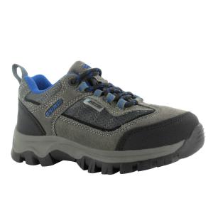 Hi-Tec Boys' Hillside Low Wp Hiking Shoes, Charcoal/blue/black